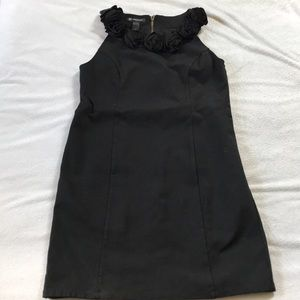 Flower Neck INC Black Dress